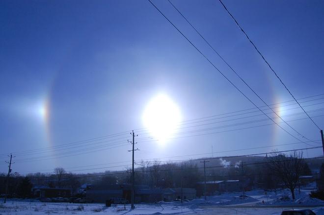 Winter Rainbow Sherbrooke, Quebec Canada