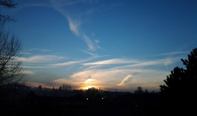 Sunrise over Murrayville Langley, British Columbia Canada