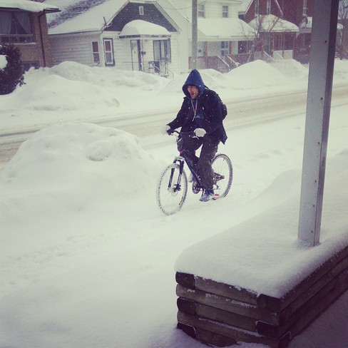 when highways are closed... North Bay, Ontario Canada
