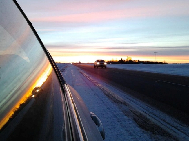 Beautiful Sunset Reflections Duck Lake, Saskatchewan Canada
