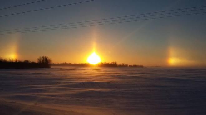 Sun Dog Souris, Manitoba Canada