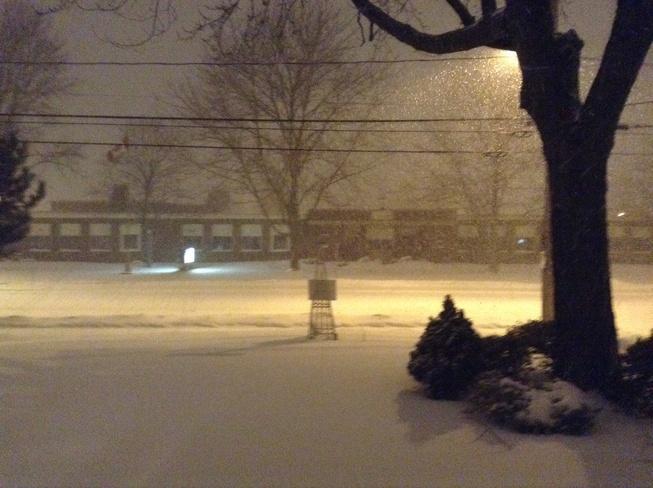 Midnight snow in Tecumseh Tecumseh, Ontario Canada