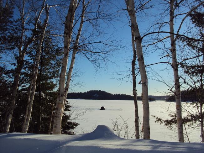 ice fishin' Elliot Lake, Ontario Canada