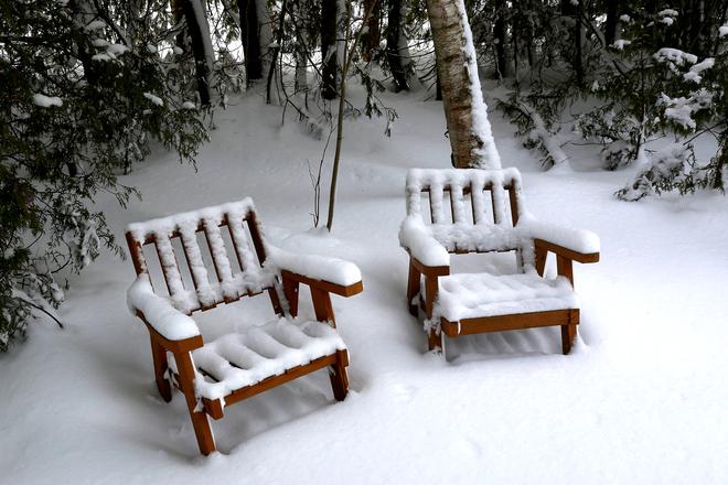 Winter Chairs Sauble Beach, Ontario Canada