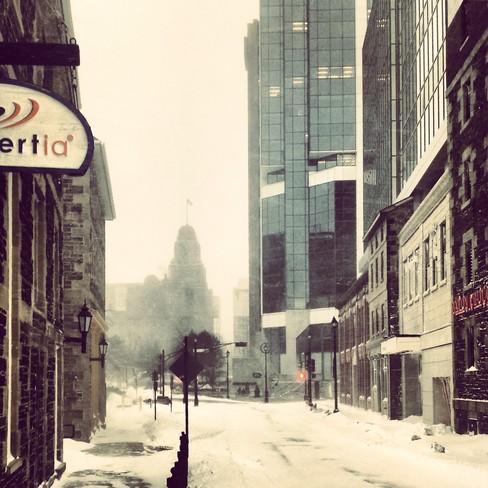 Deserted Halifax in Blizzard Halifax, Nova Scotia Canada