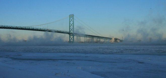 Sea Smoke on the Detroit River