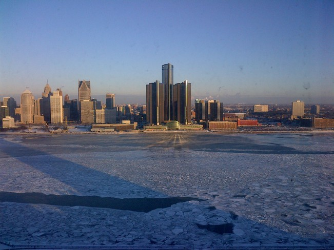 Sunny morning in Windsor-Detroit Windsor, Ontario Canada