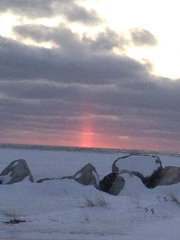 red glow Stephenville, Newfoundland and Labrador Canada