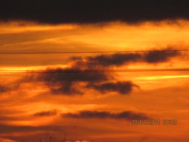 sunset Joggins, Nova Scotia Canada