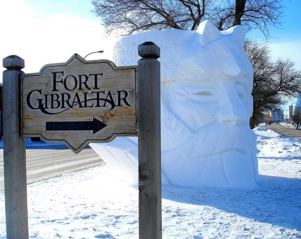 SNOW SCULPTURE Winnipeg, Manitoba Canada