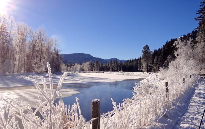 Winter country Kelowna, British Columbia Canada
