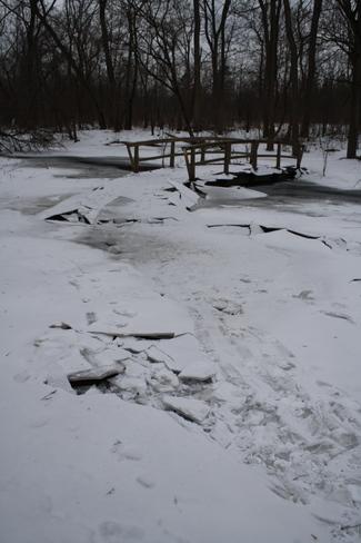 icy bridge London, Ontario Canada