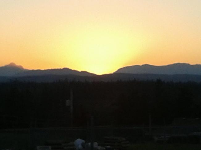sun down Campbell River, British Columbia Canada