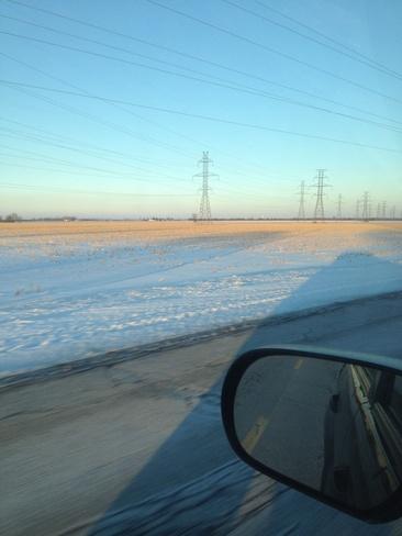 beautiful winter drive Leamington, Ontario Canada