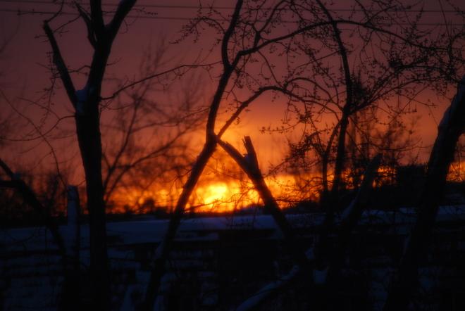 February Sunset Bramalea, Ontario Canada