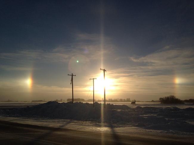 Winter Sundogs Yorkton, Saskatchewan Canada