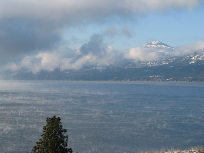 Crispy cold Morning Vernon, British Columbia Canada