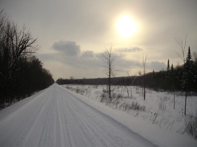 Riding the rail trail Oro Station, Ontario Canada