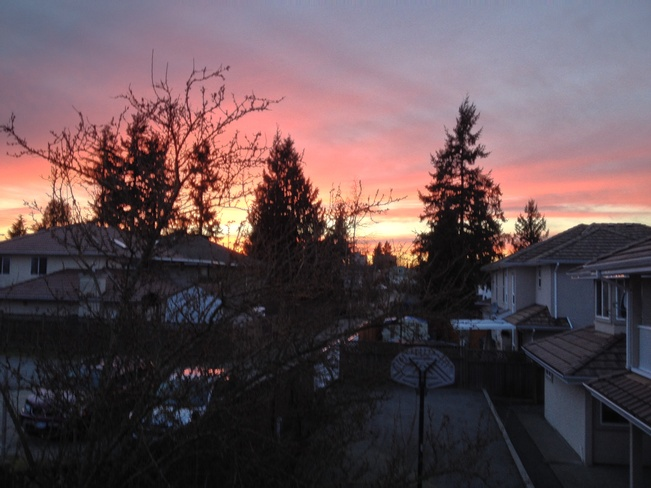 chilly winter evening Surrey, British Columbia Canada