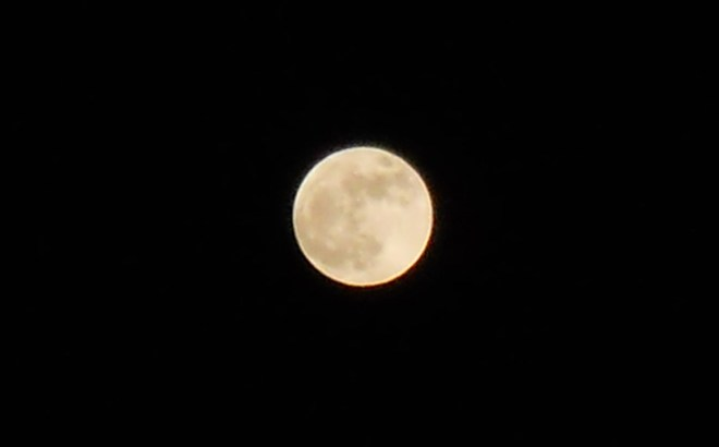 Full Static Moon Victoria, British Columbia Canada