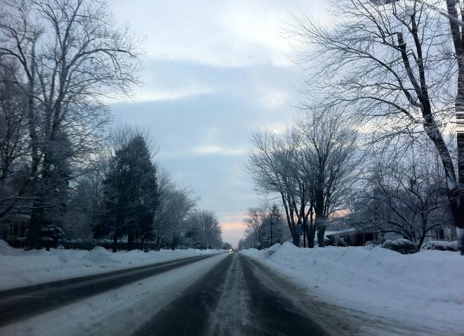 Snowy Morning Petrolia, Ontario Canada