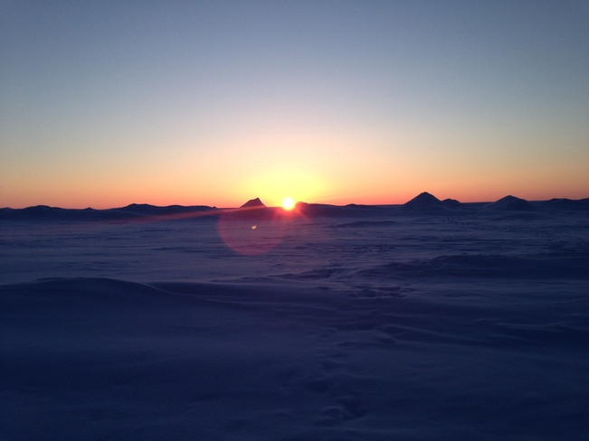 Lake Huron Winter Sunset Goderich, Ontario Canada