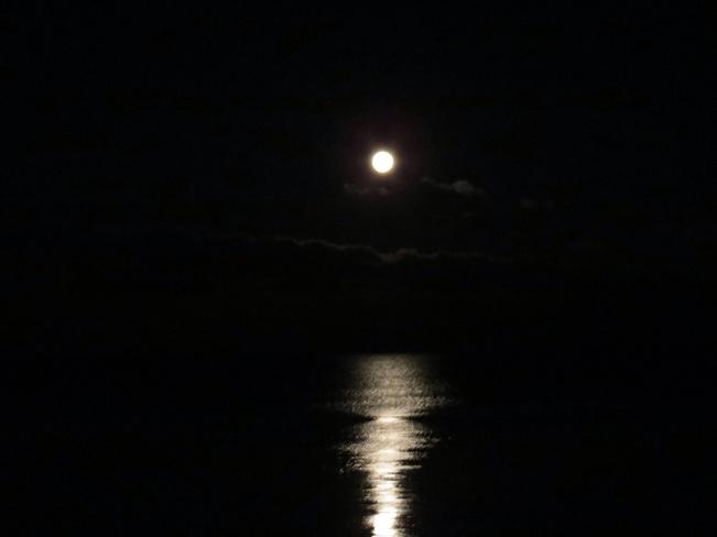 Moon rise Mississauga, Ontario Canada