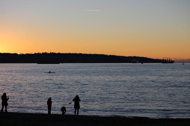 Sunset at English Bay Vancouver, British Columbia Canada
