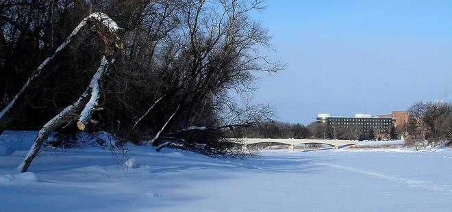SUNNY AND COLD Winnipeg, Manitoba Canada