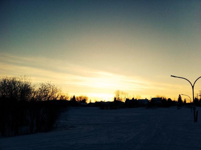 sunset South Porcupine, Ontario Canada
