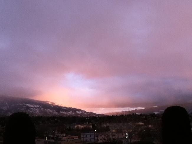 this evenings sunset South Vernon, British Columbia Canada