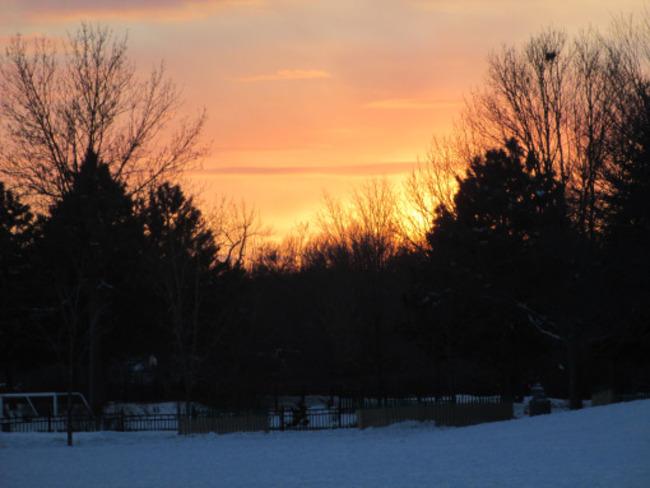 Sunset over Westmount Park Westmount, Quebec Canada