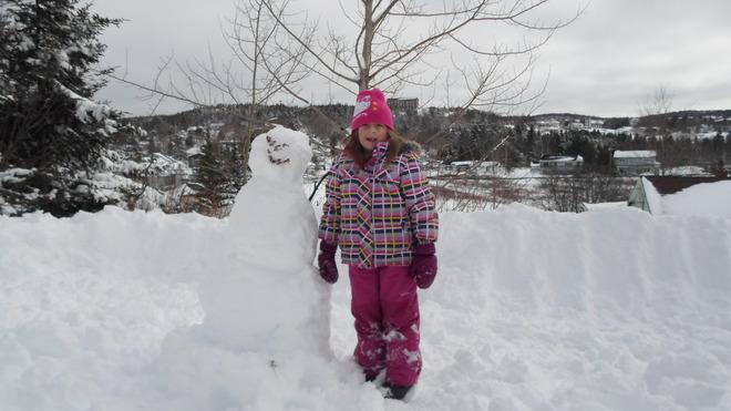 NO SCHOOL TODAY-SNOWMAN FUN Saint John, New Brunswick Canada