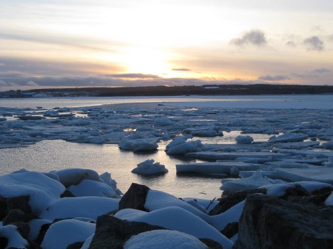 Ice at Sunset Sydney, Nova Scotia Canada