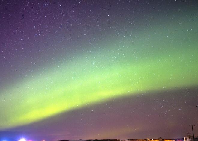 Northern Lights Over Calgary Calgary, Alberta Canada