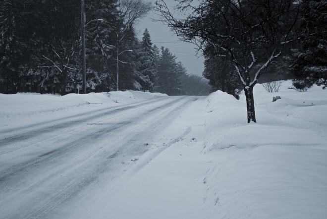 Slick Roads Simcoe, Ontario Canada