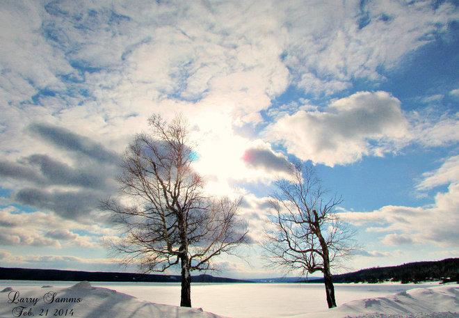 """Beautiful Day At The Pond"" Springdale, Newfoundland and Labrador Canada"