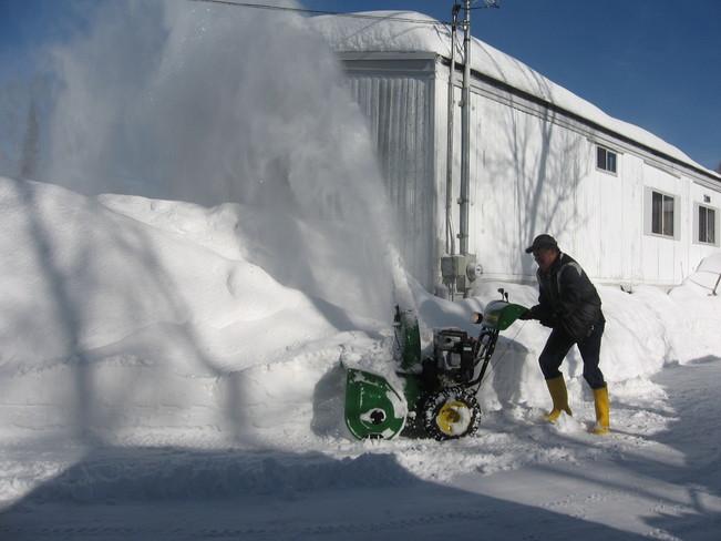 Lot of snow Prince George, British Columbia Canada