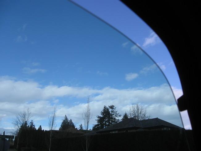 clouds through a truck window... Surrey, British Columbia Canada