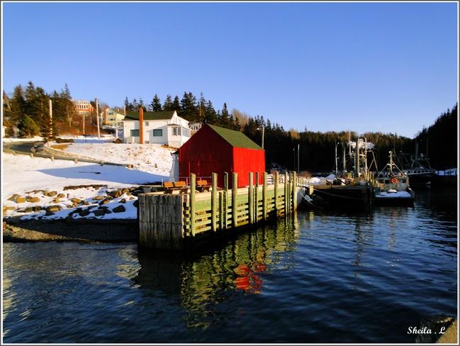 Beautiful Winters Day Canning, Nova Scotia Canada