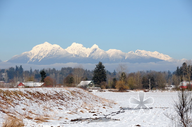 North Shore mountains Surrey, British Columbia Canada