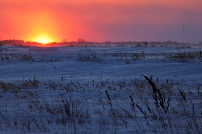 Polar Vortex Sunset Winnipeg, Manitoba Canada