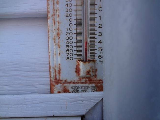 Thermometer -39.5 Blackfalds, Alberta Canada
