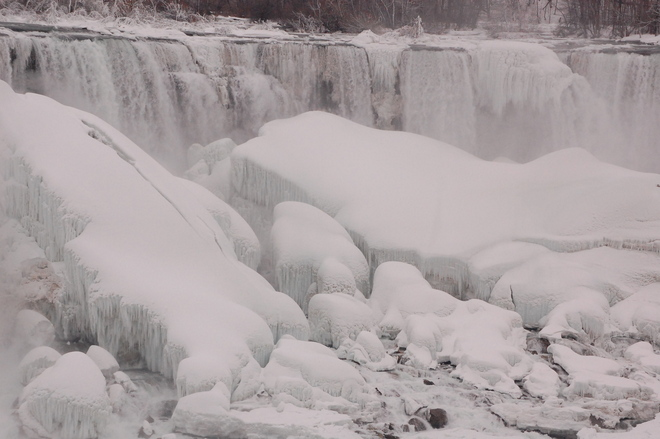 Frozen Falls up close Niagara Falls, New York United States