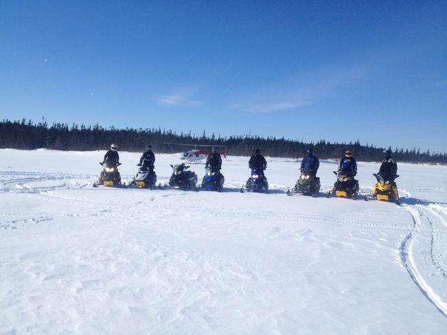 Sledding In Bay Du Nord Wilderness Reserve, NL Clarenville, Newfoundland and Labrador Canada