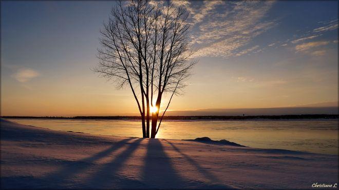 Lever du soleil divin Trois-Rivières, Quebec Canada