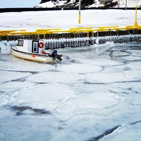 Winter ice Portugal Cove-St. Philip's, Newfoundland and Labrador Canada
