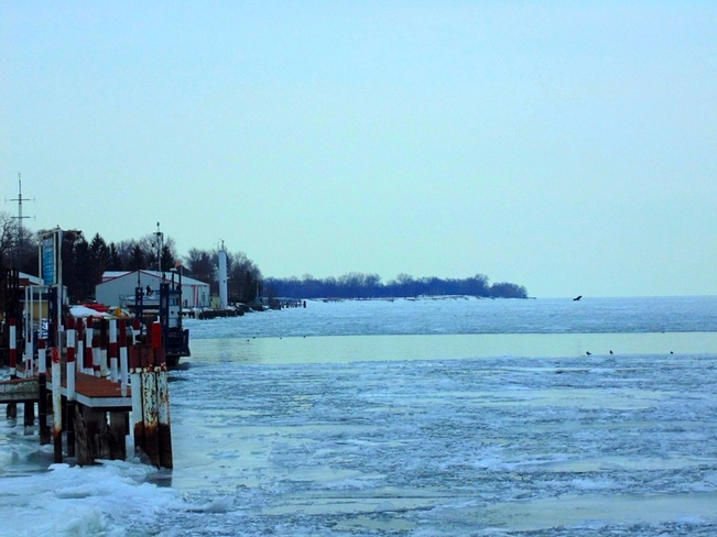 Icy North Ridge, Ontario Canada