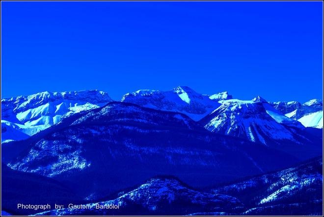 Winter view of Rocky Mountain Edmonton, Alberta Canada