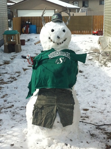 Our snowman Medicine Hat, Alberta Canada